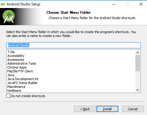 Setting-up Android Studio Environment
