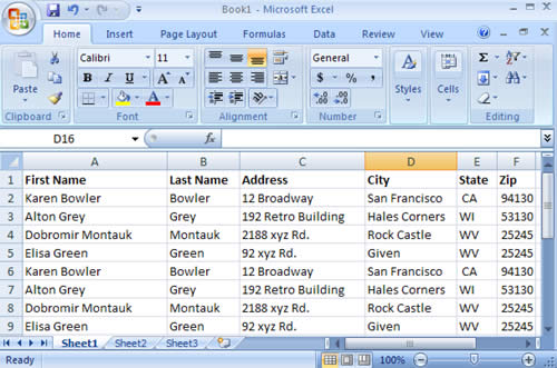 Data Splitting in Microsoft Excel 2007