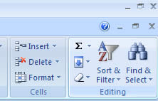 Editing Tab in Microsoft Excel