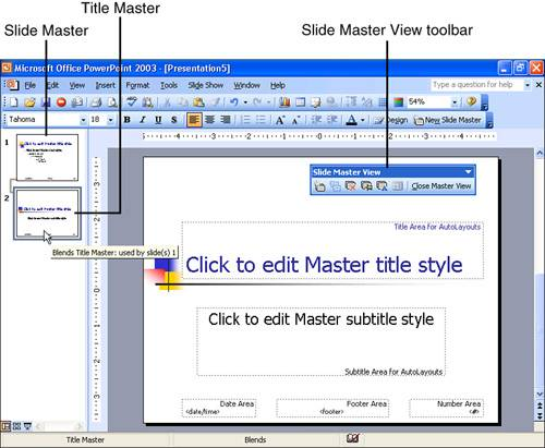 Using the title master ms powerpoint use slide master view to manage the design of all slides in a presentation the screentip shows the name of the current design and the slides to which the toneelgroepblik Images