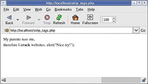 Converting Strings into Hypertext Markup Language (HTML) : PHP